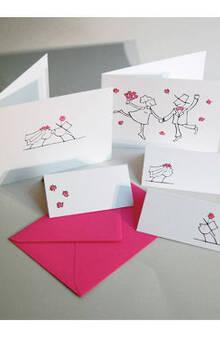 Hochzeitskartenset mit Einladungen, Menükarten und Tischkarten von Anke Thomas