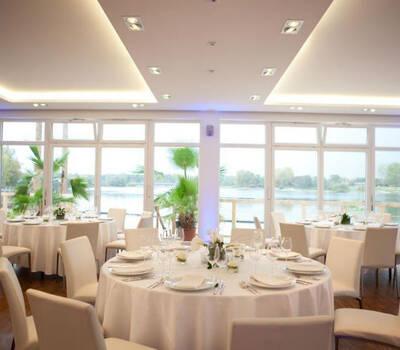 Hochzeitsgedeck, Foto: Seepavillon.