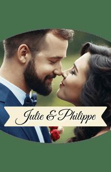 Étiquettes personnalisées modèle mariage