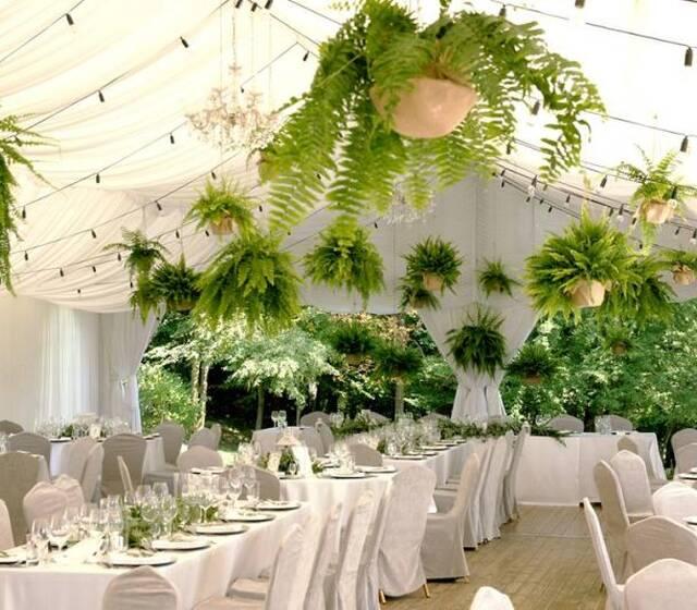 Zielony ślub w namiocie