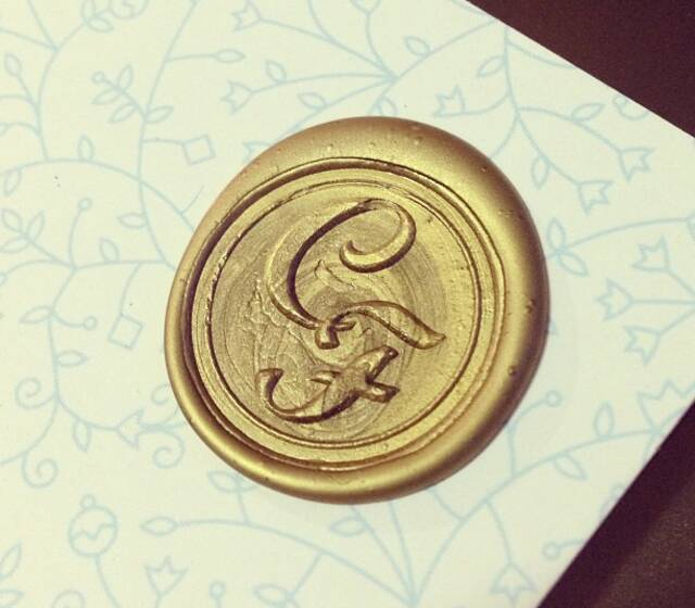 Selo para convites e cartões de agradecimento - Quem Casa Quer