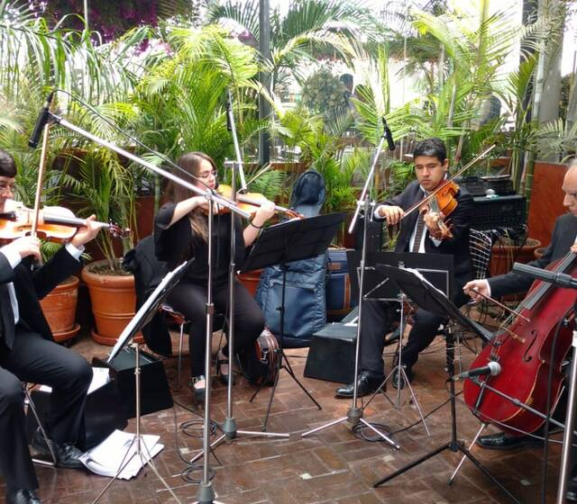 Cuarteto de Cuerdas - Huaca Pucllana - matrimonio de Milagros Leiva