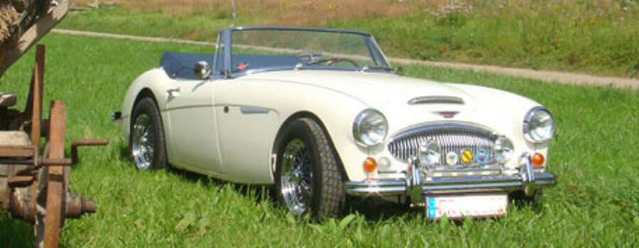 Beispiel: AUSTIN HEALEY Mk |||, Foto: Roadster Reise Träume.