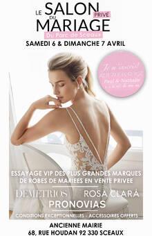 Le Salon du Mariage Privé du Parc de Sceaux - 6 et 7 avril 2019