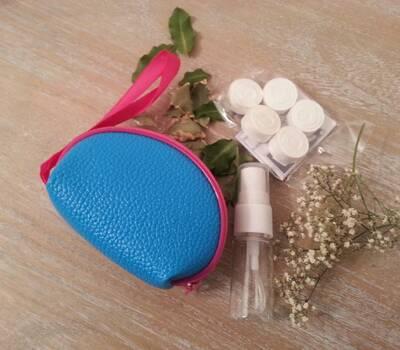 kit bolso con toallitas naps disponible en varios colores