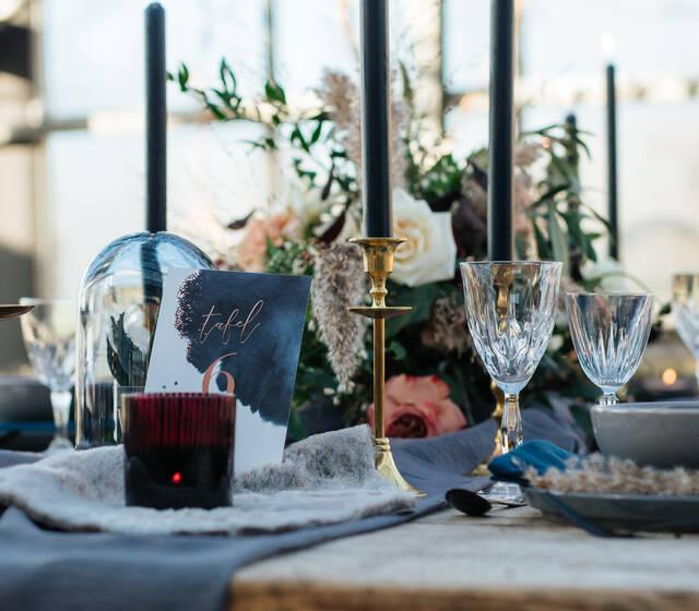 Moody kleuren bruiloft