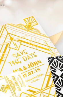 Individuelle Gestaltung: Save the Date Postkarte