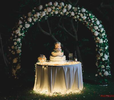 Torta illuminata