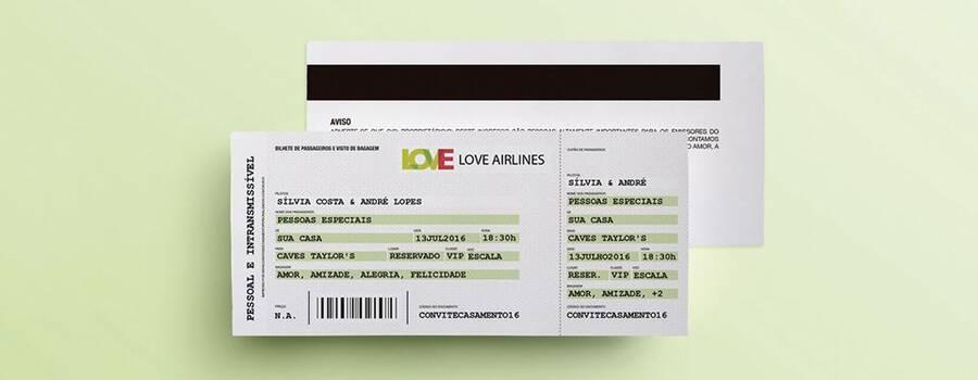 Shine: bilhete de avião