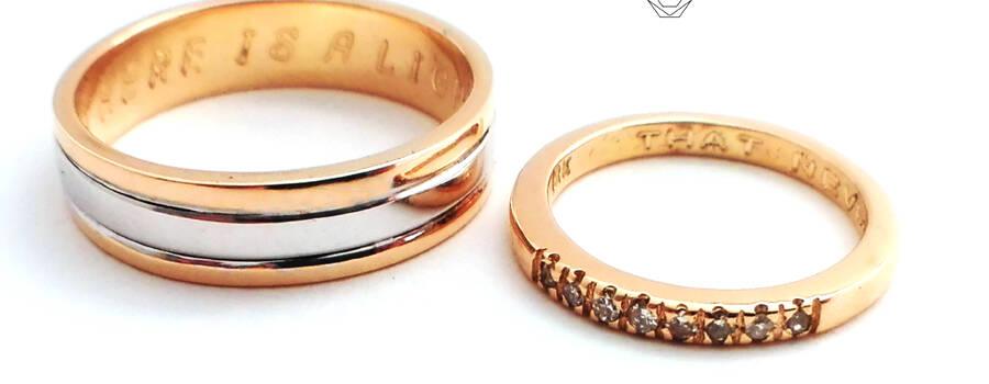 Par de aros en oro amarillo y blanco 18K con diamantes.