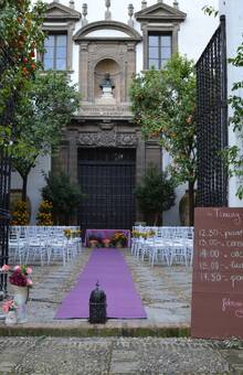 Detalle Decoración ceremonia civil Patio Exterior