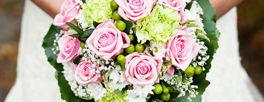 Beispiel: Hochzeitsfloristik, Foto: Gartencenter Burgenland.
