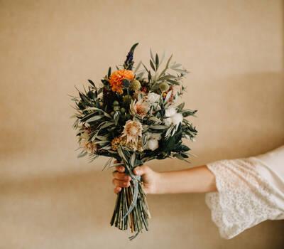 Detalle ramo de la novia