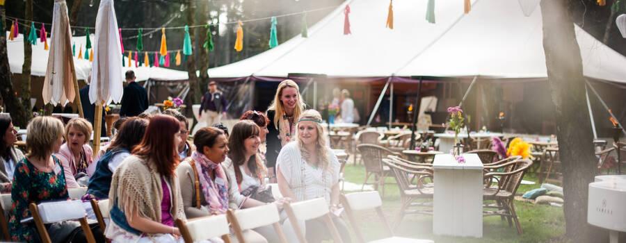 Bohemian festival sfeer bruiloft
