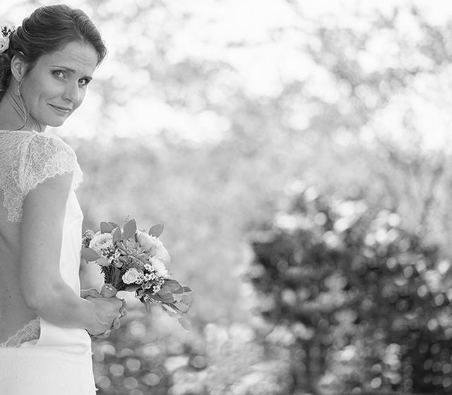 Robe de mariée inédite, blousante sur-mesure Emmanuelle Gervy Grenoble, Lyon, Annecy