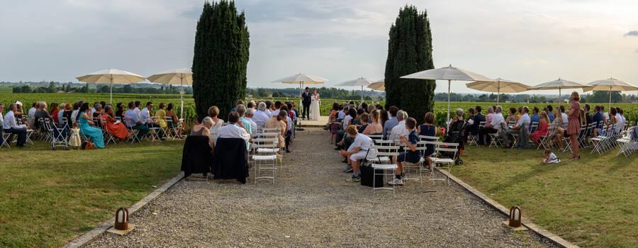 Cérémonie Laïque dans le Parc du Château