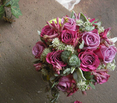 Beispiel: Individueller Brautstrauß, Foto: Die Blume Gengenbach.