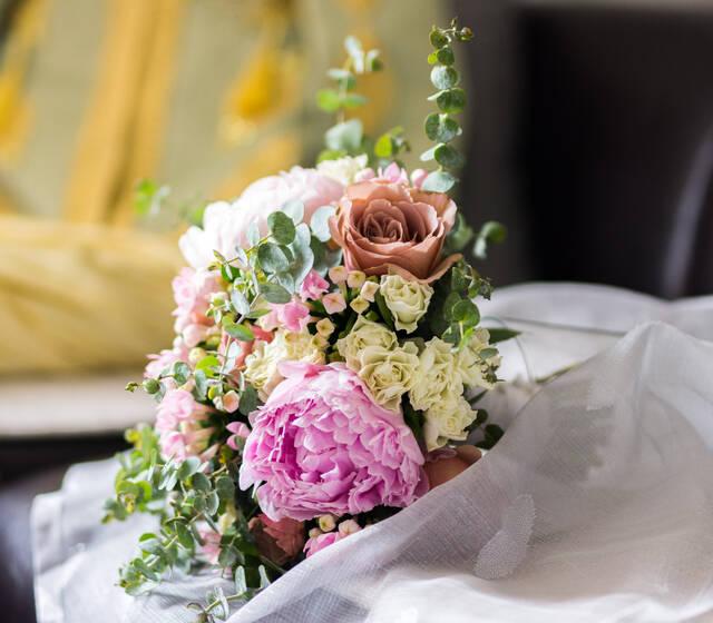 Bouquet de mariée Oriental chic