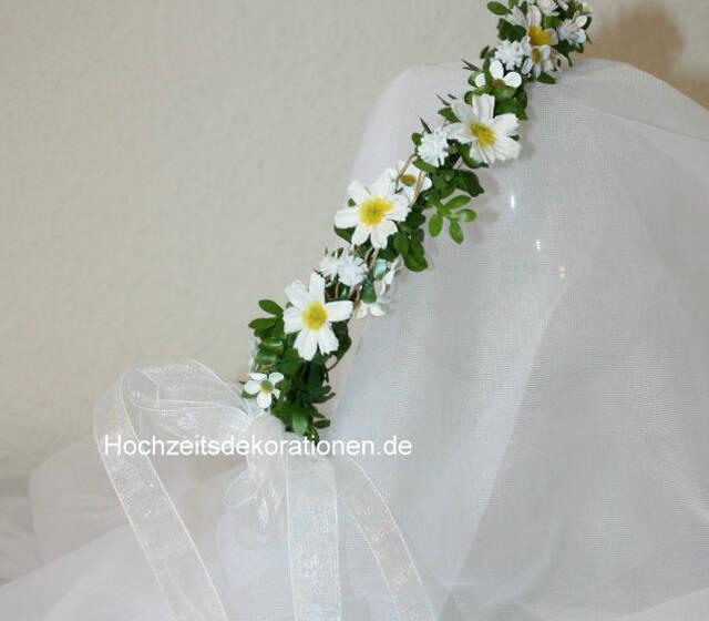 Haarkranz Margeriten , zur Hochzeit , Kommunion oder Konfirmation