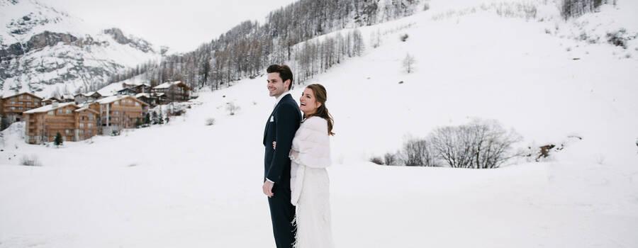 Mariage en station de ski