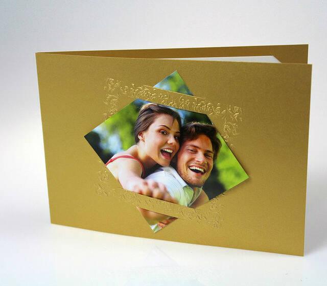Beispiel: Hochzeitskarte, Foto: Preuninger.