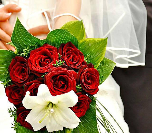 Beispiel: Brautstrauss, Foto: Floreal Blumen.