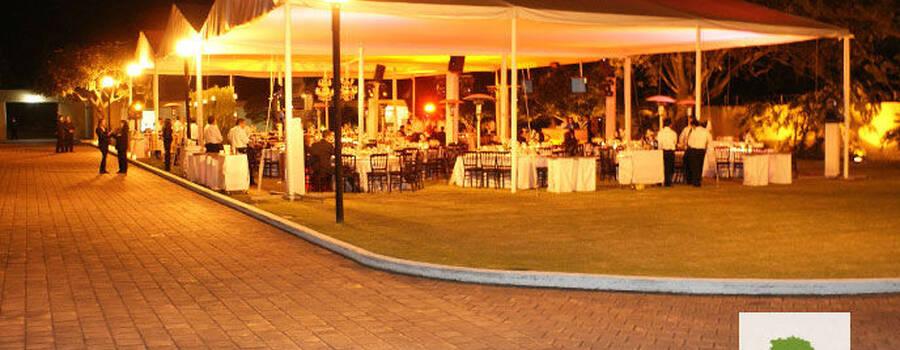 Terraza/jardín para eventos - Foto La Hacienda