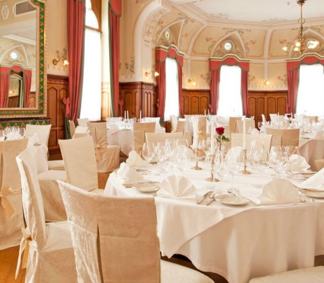 Beispiel: Bankett für Ihre Hochzeit, Foto: Hotel Edelweiss.