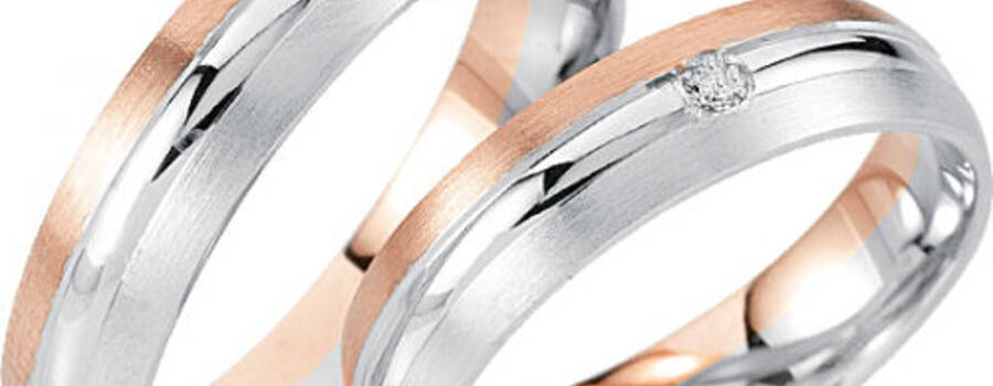 Beispiel: Trauring-Rosé Weissgold, Foto: Center Juwelen.