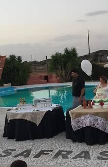 Balões em Coração - Corte do Bolo - Casamento