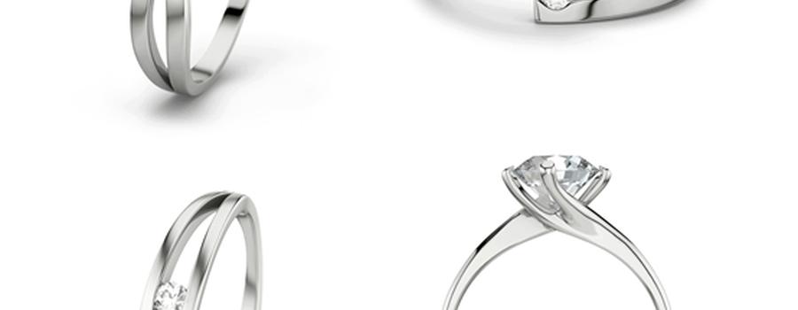 Alcuni degli anelli disponibili su 21Diamonds.