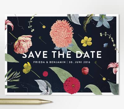Studio Ja Ja: Hochzeitspapeterie, Menükarten, Einladungen, Save-the-date Karten: alles vom Feinsten, im Bild: Lieblingsdesign