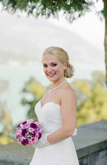 Braut mit Strauss :)