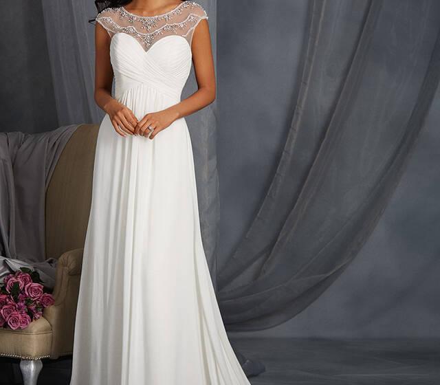 Beispiel: Brautkleid von Alfred Angelo.