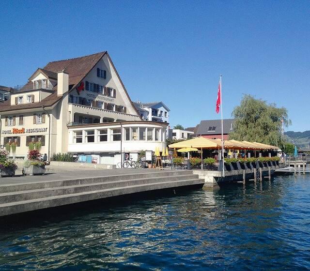 Beispiel: Aussenansicht, Foto: Hotel Rössli Beckenried.