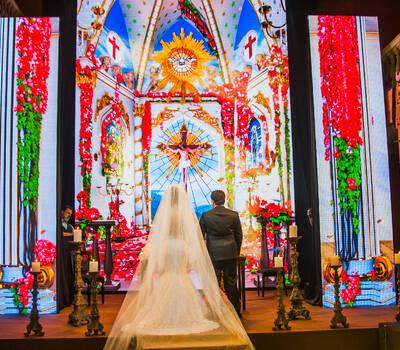 Detalhe de nossa Catedral Barroca em 3 D