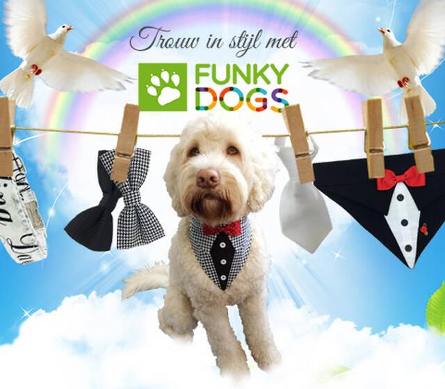 Trouw in stijl! Met deze prachtige selectie aan 'Wedding'-hondenaccessoires is de mooiste dag in jullie leven helemaal compleet. Jullie viervoeter mag niet ontbreken op jullie trouwfoto's en daarom hebben we voor iedere hond een bijzondere accessoire, speciaal voor deze onvergetelijke dag!