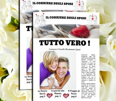 Gazzetta degli sposi nel formato DIN A3 come le vere gazzetta  http://www.schobuk.it/