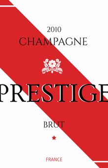 Étiquettes personnalisées modèle champagne prestige