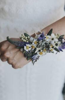 El Lenguaje de las Flores - pulsera/ramo de novia