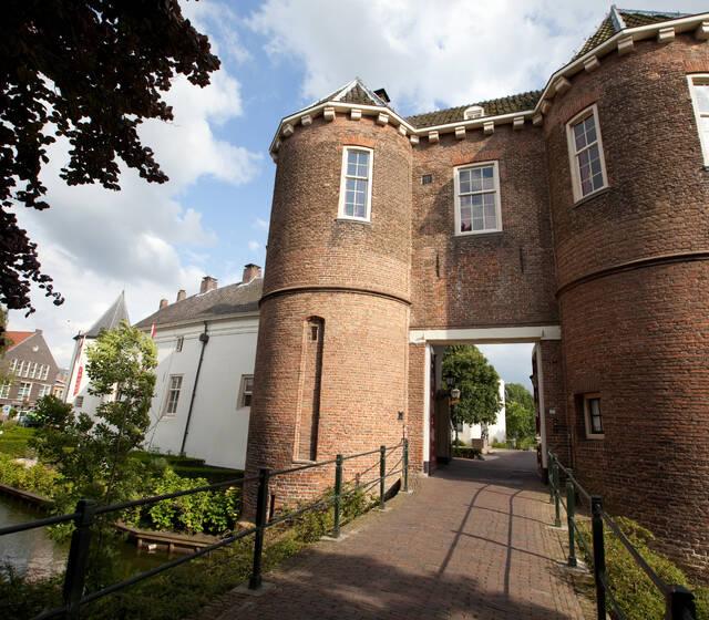 Kasteel Montfoort toegangspoort met daarboven de Poorterzaal
