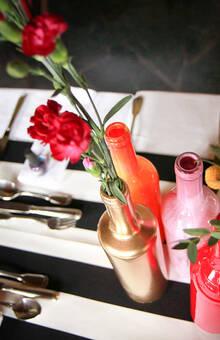 """Mariage D&G Thème """"Haut en couleurs"""" Décoration de tables"""