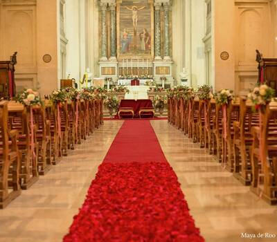 Allestimento della Basilica di San Sebastiano fuori le mura - Roma