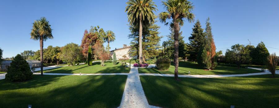 Panorámica de los jardines