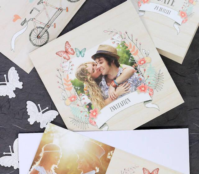 """Cartes de mariages de la collection """"Bucolique"""""""