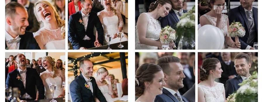 Emotionen! Emotionen! Emotionen! Ich habe den großen Anspruch, dass meine Paare viele Reaktionen zeigen. Es ist IHRE Geschichte, wie ein kleines Buch, das ich für sie geschrieben habe. (by Anke Raloff / Bernd Hempen)