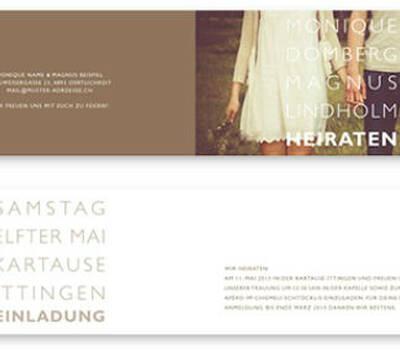 Beispiel: Hochzeitskarte, Foto: eliart.