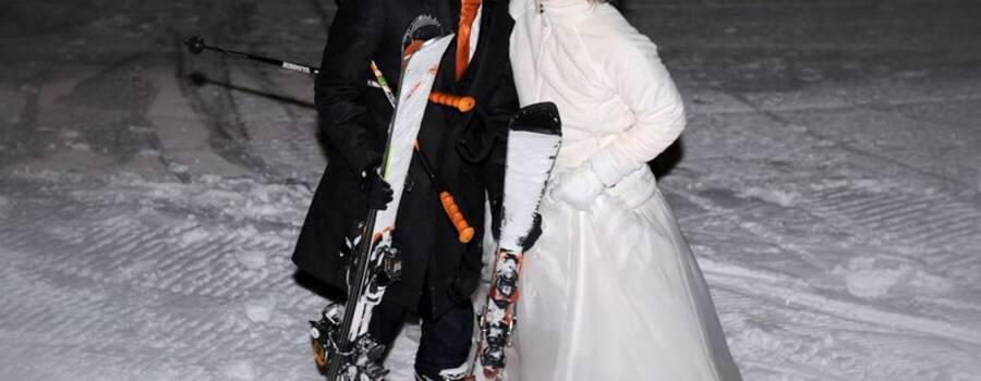 Just Married  sulla neve  - Mario Curti Photographer