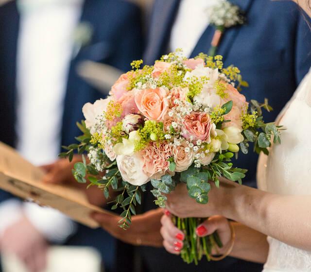 Bouquet de mariée acidulé