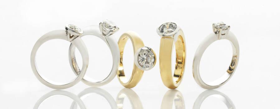Beispiel: Finden Sie den passenden Ring, Foto: Juwelier Neuwirth.